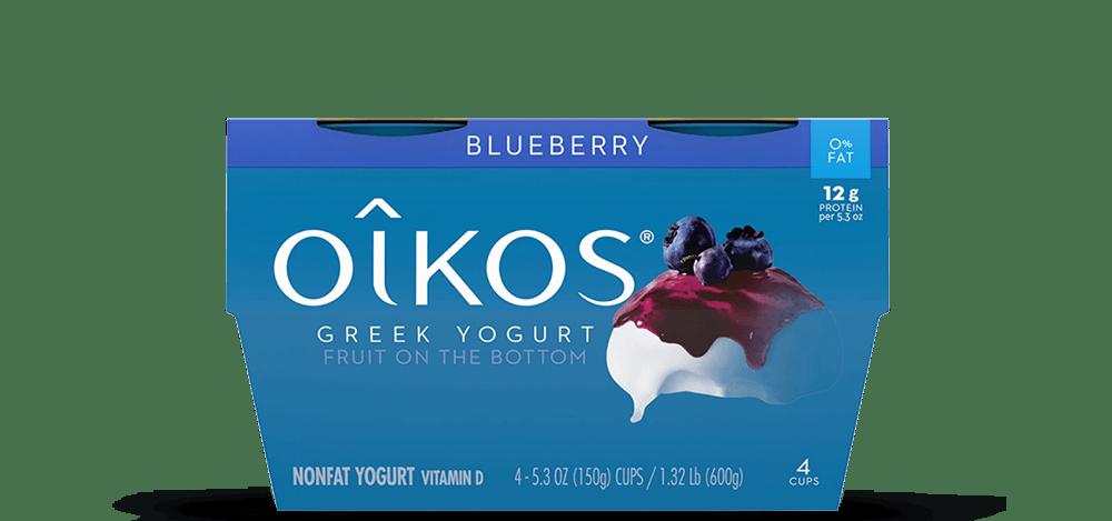 Blueberry Oikos Traditional Nonfat Greek Yogurt Multipack