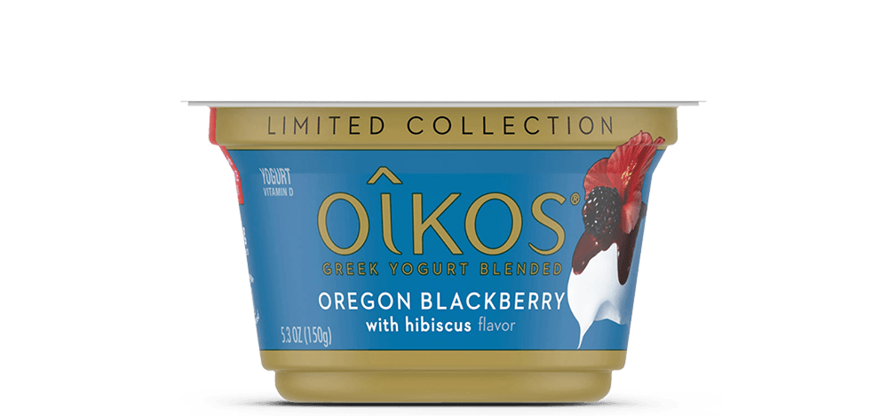 Oregon Blackberry with Hibiscus Oikos Traditional Whole Milk Greek Yogurt
