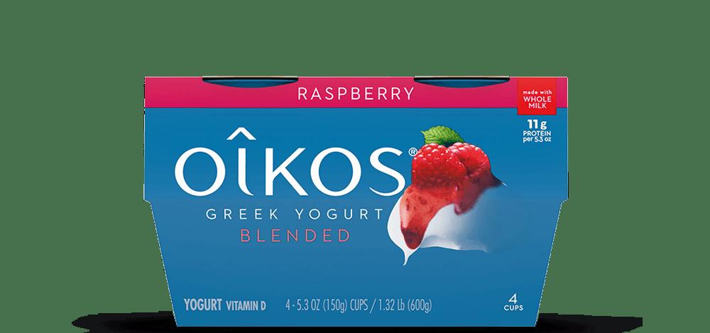 Raspberry Oikos Traditional Whole Milk Greek Yogurt Multipack