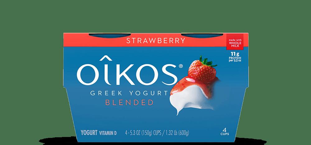 Strawberry Oikos Traditional Whole Milk Greek Yogurt Multipack