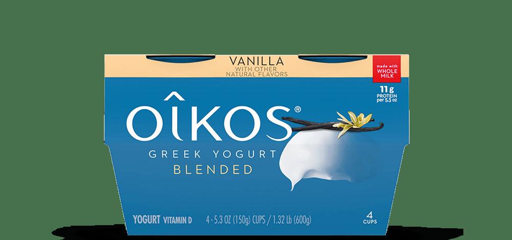 Vanilla Oikos Traditional Whole Milk Greek Yogurt Multipack