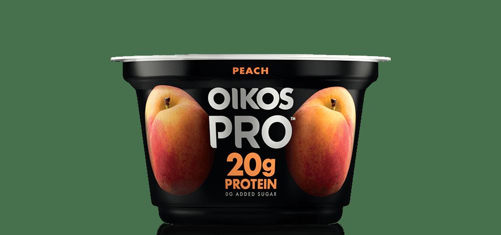 Peach Oikos PRO High Protein Yogurt Cultured Ultra Filtered Milk