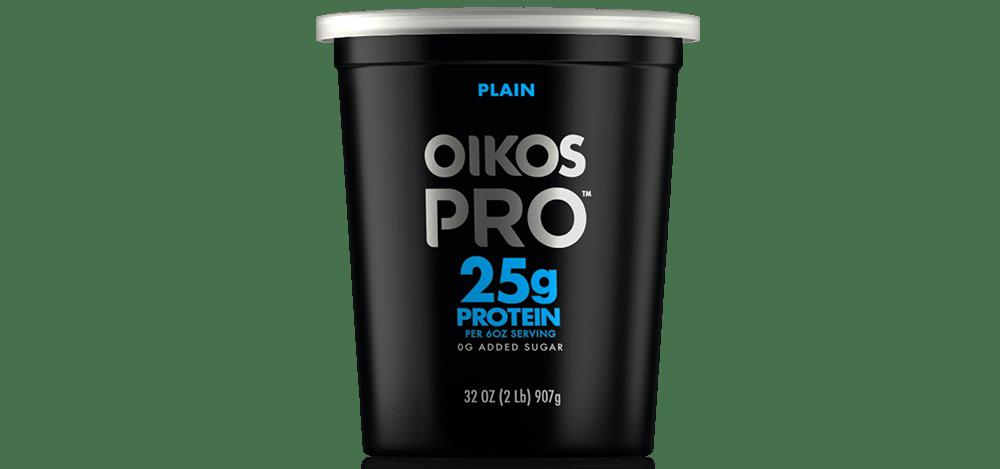Plain Oikos PRO High Protein Yogurt Cultured Ultra Filtered Milk Quart