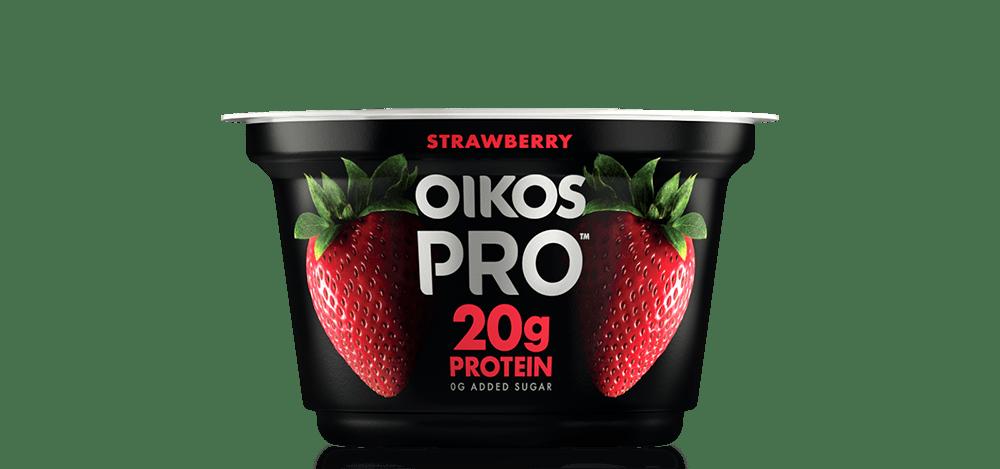 Strawberry Oikos PRO High Protein Yogurt Cultured Ultra Filtered Milk