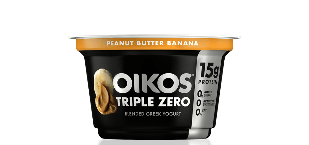 Peanut Butter Banana Oikos Triple Zero High Protein Nonfat Greek Yogurt