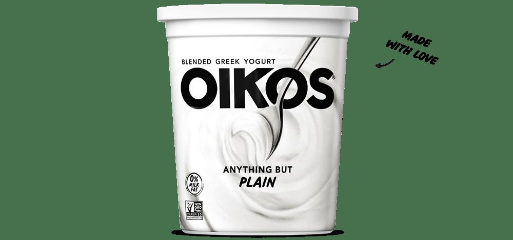 Plain Oikos Blended Nonfat Greek Yogurt Quart