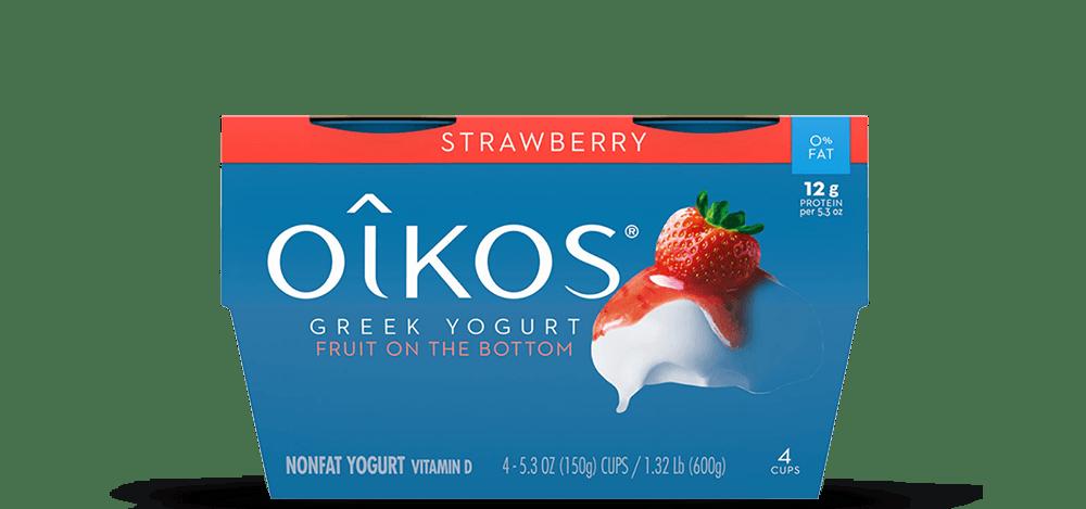 Strawberry Oikos Traditional Nonfat Greek Yogurt Multipack