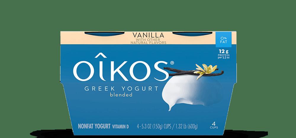 Vanilla Oikos Traditional Nonfat Greek Yogurt Multipack